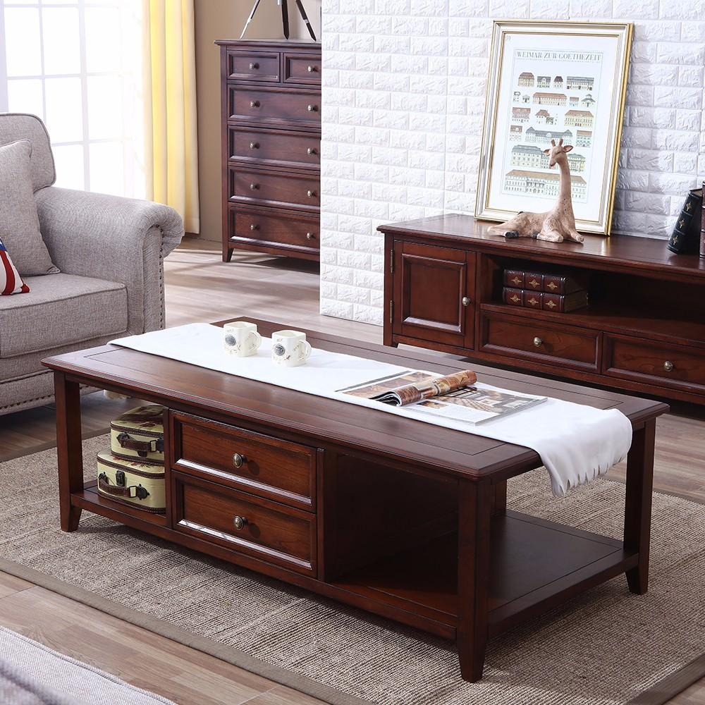 Salontafel amerikaanse stijl hout thee tafel voor woonkamer houten ...