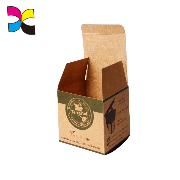 creative paper packaging box brown kraft paper food packaging box without glue