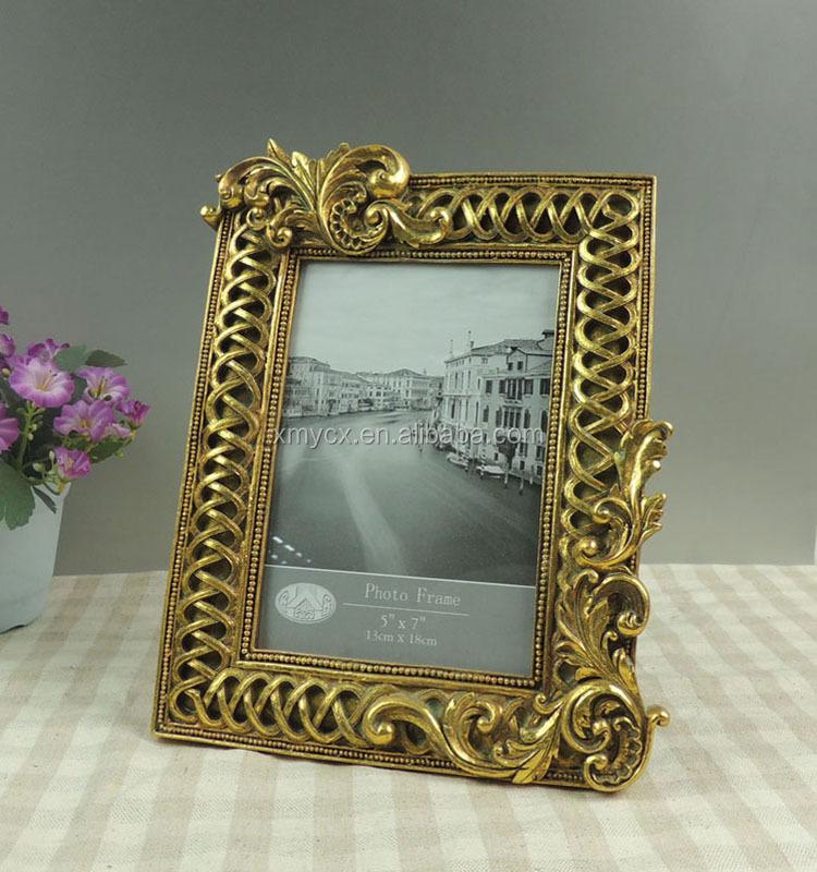 Antiken Gold Bilderrahmen Für Beerdigung Dekoration - Buy Product on ...