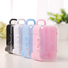 Creative trolley case piggy bag shape plastic candy box with cartwheel for children Bridal Favor Accessories