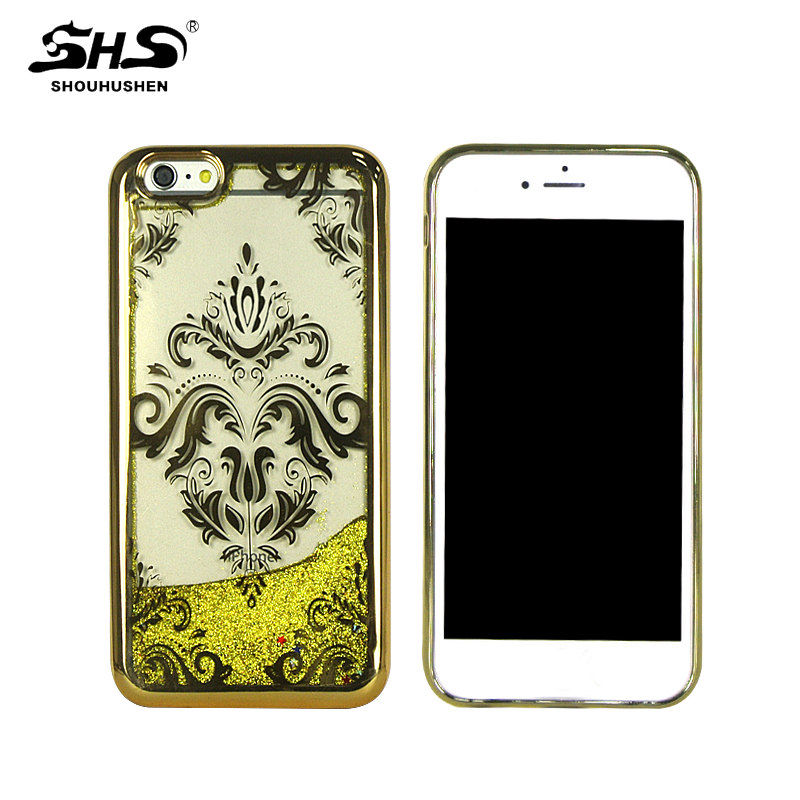 SHS New Fashion TPU Quicksand Electroplating Cell Phone Case for Nokia N950