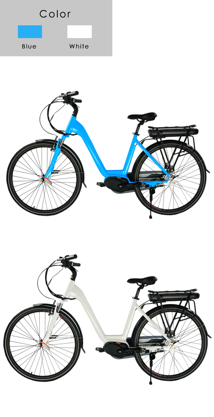 Mid Drive 전기 City Bicycle 와 36 볼트 10.4A, 뒤 랙 Lithium Battery