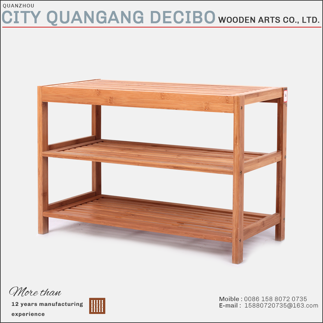 top grade elegant bamboo wooden shoe rack chair prices