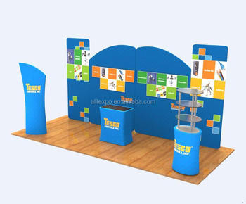easy folding clothing displays trade show