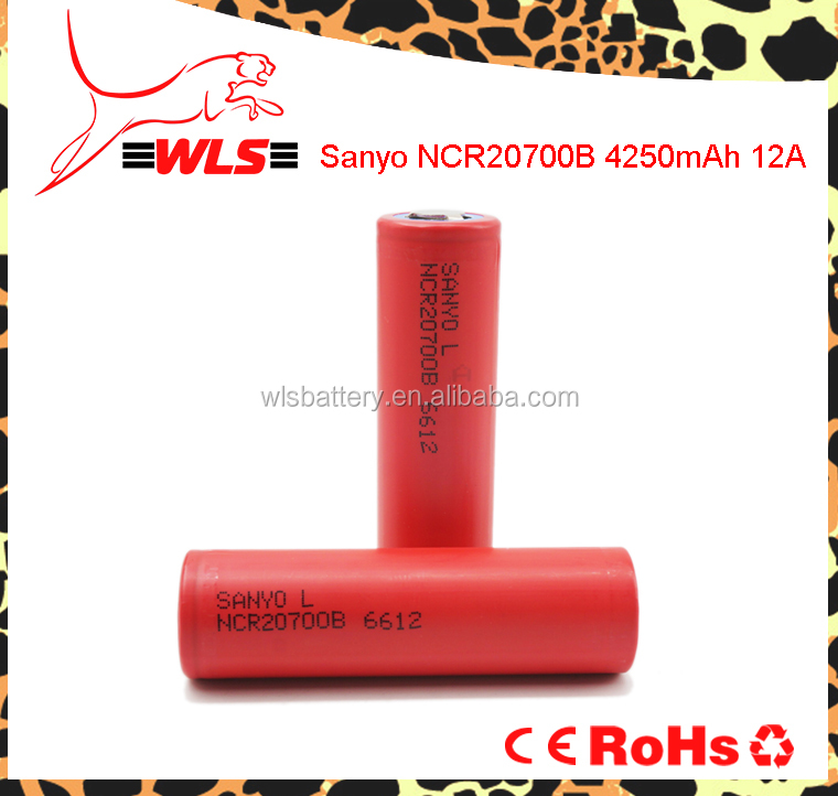 wholesale rechargeable 20700 battery cylindrical battery 3.7V 4250mAh Sanyo NCR20700B ncr20700b