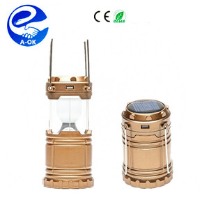 New Solar Camping Lantern Lamp,6 LED Solar Camping lamp Outdoor Lighting Folding Camp Tent Lamp USB Rechargeable lantern
