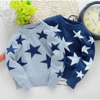 3f1c3e196 Hombre suéter de niño de cinco puntas estrella suéter Otoño Invierno ropa  de los niños ropa