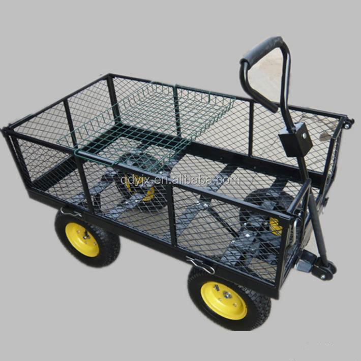 Charming Fashionable Metal Garden Cart With Four Wheels   Buy Metal Garden Cart With  Four Wheels Product On Alibaba.com