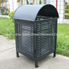 Outdoor steel garbage box waste basket trash receptacle