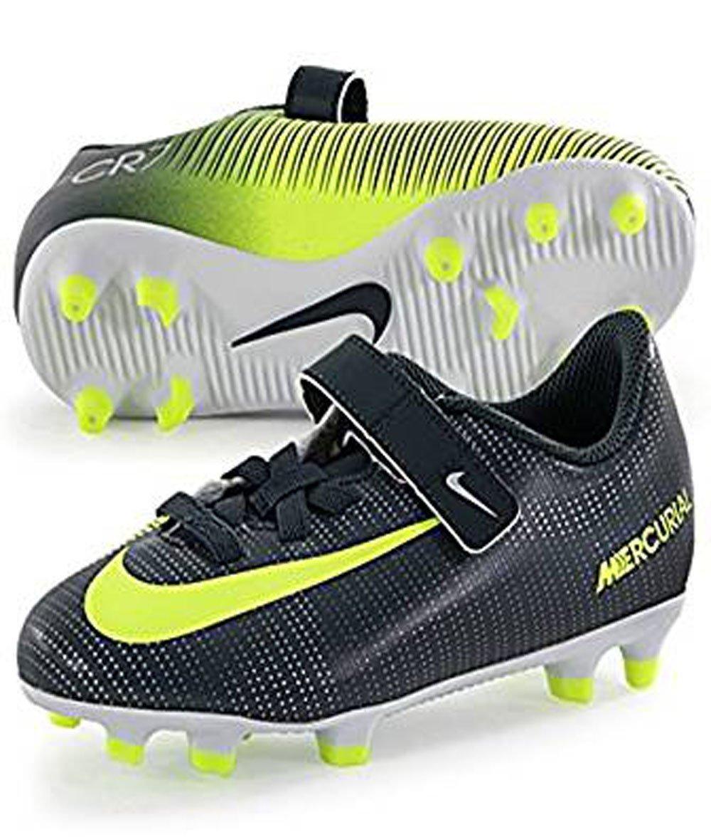 538afb6daf6e Get Quotations · Nike Junior Mercurial Vortex (Velcro) CR7 FG Kids  Firm-Ground Soccer Cleats