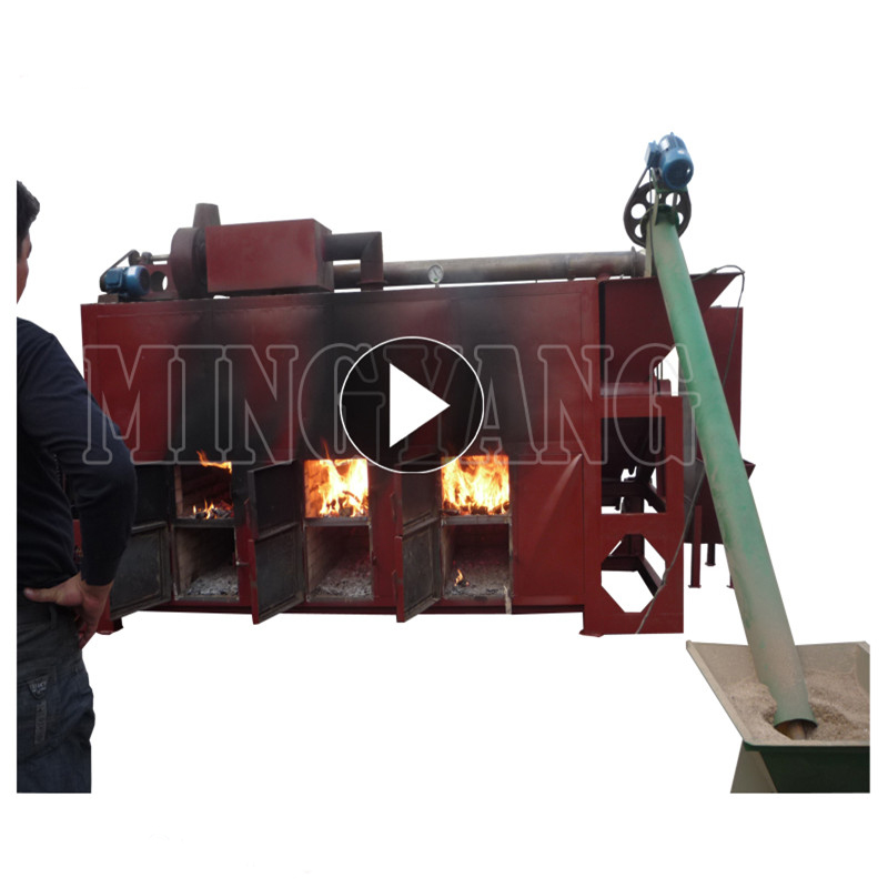 Output continuous wood sawdust torrefaction bioenergy charcoal making machine