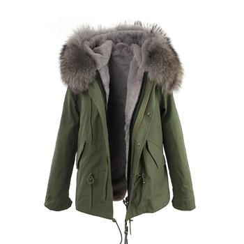7e057438f Soft Cozy Faux Rex Rabbit Fur Lining Quilted Jacket Womens Fashion ...