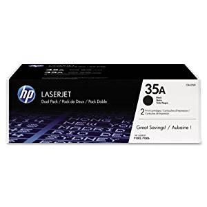 HP 35A (CB435D) 2-pack Black Original LaserJet Toner Cartridges - Black - Laser - 1500 Page