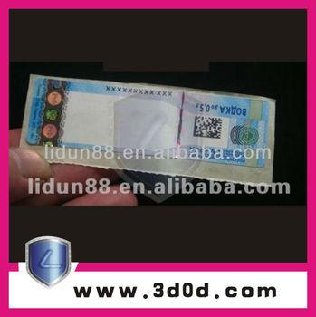 anti fake security watermark coupon ticket booklet print makeranti counterfeiting ticket
