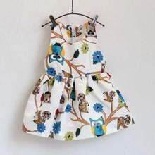 Kids Baby Girls Sleeveless Dress Print Tutu Dress One Piece Party Dress