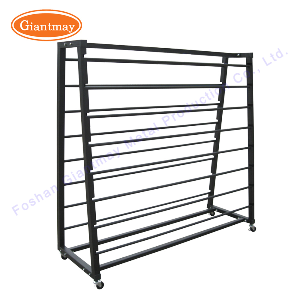Charmant Wallpaper Fabric Rug Metal Display Rack And Stand Fabric Roll Storage