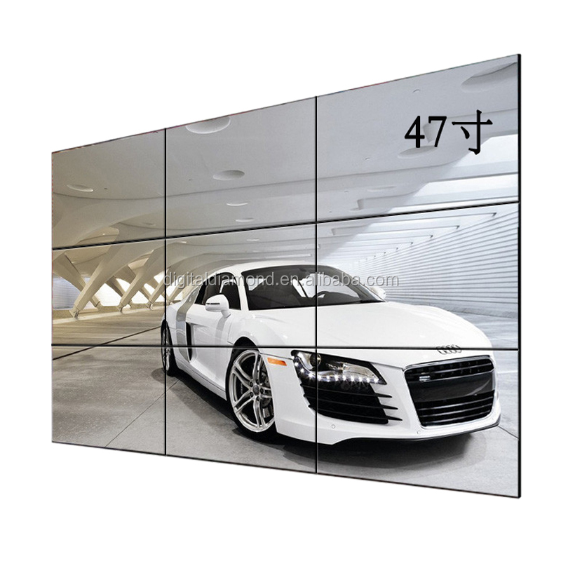 47 inch LG panel super narrow seamless lcd video wall bezel 4.9mm