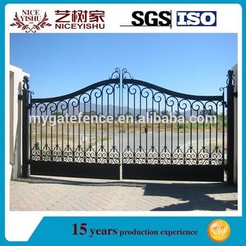 Nuevo dise o puertas de hierro forjado puerta del jard n - Puertas de metal para casas ...
