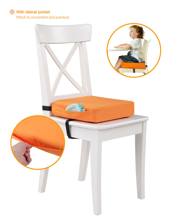 High Chair Portable Booster Seat Cushion Travel Dining Seat Pad for Toddler Kids Baby Infant