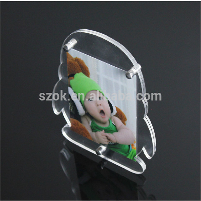 Wholesale penguin shape acrylic lovely photo picture frame for desktop