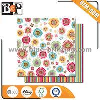 Custom Made 12X12 Wholesale Scrapbook Paper For Diy