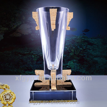 Optic Crystal Football Trophy Cup ,XF Trophy Supplier