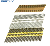 High quality china 21 Degree Full Round Head framing nailer Plastic Strip Nails