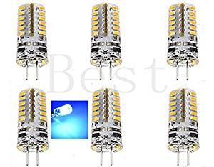 Best to Buy (6-PACK) Brightest 3-Watt G4 LED Bulb 12V AC/DC, 48 SMD 3014 LED, 3W Blue Color (Jc10 Bi-pin 20W Replacement)