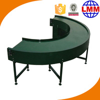 2015 best efficiency 90 degrees or 180 degree turning belt conveyor with stainless steel frame chain link conveyor belt