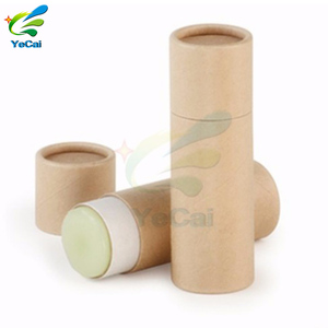 High quality eco friendly paper lipstick tube , hot stamping paper packaging tube for lip balm
