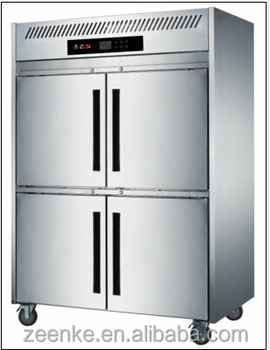 4 Door Stainless Steel Industrial Upright Freezer/ Commercial Freezer  Refrigerator Prices