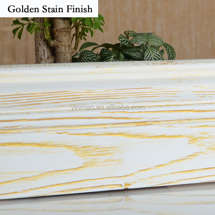 Solid Ash Wood Skirting, 4 color Stain Finish wooden moulding / baseboard