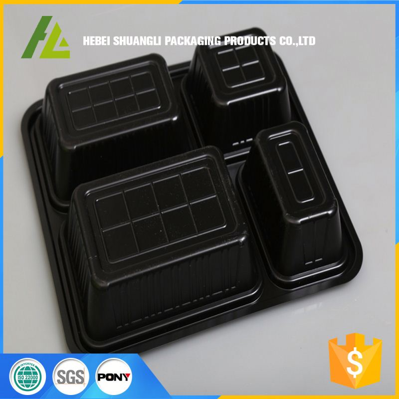 china wholesale rectangle plastic lunch bento box packaging lightweight food containers