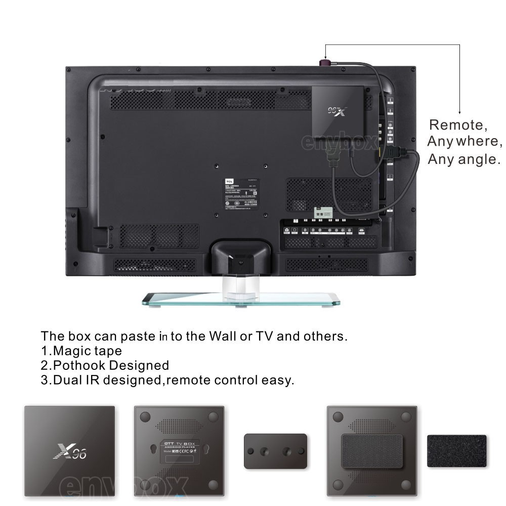 2016 Cheap Amlogic S905X KODI Quad Core X96 4K TT TV Box