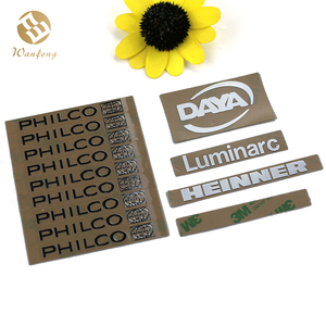 Custom Electroforming Golden Silver Nickel Sticker Label For Your Own Logo