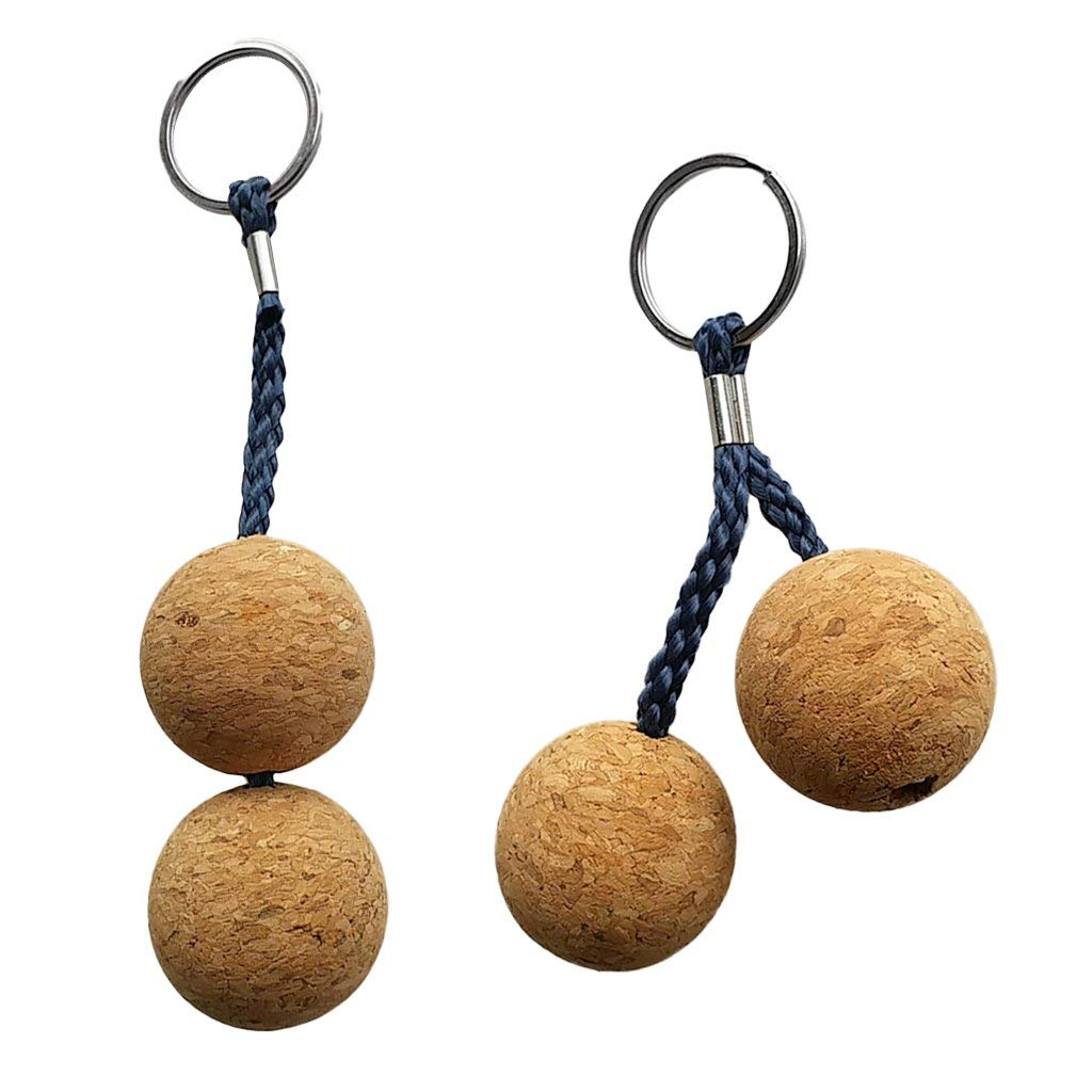 2Pcs Floating Cork Keyring Water Buoyant Key Ring Boat Kayaking Accessories