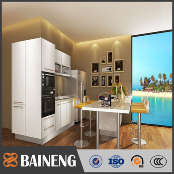 New Style Italian Kitchen Cabinet Manufacturers Tempered ...
