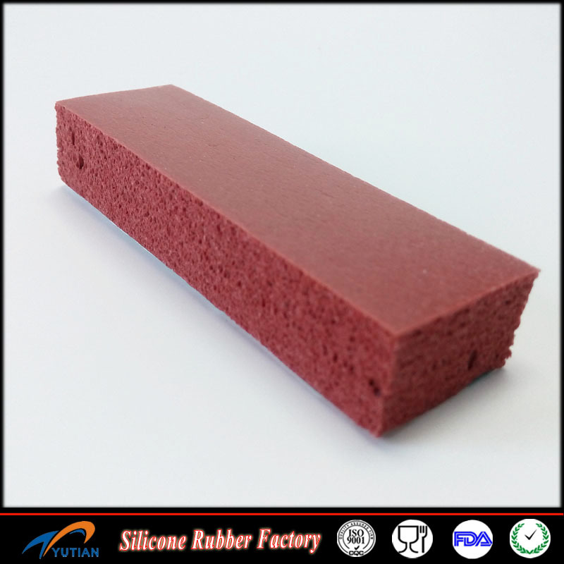 15mm thick Sponge / foam silicone rubber sheet Red color