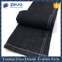 Alibaba China cotton rayon polyester spandex jeans pants material fabric