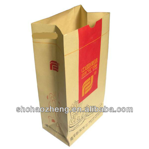 Take-away fries food kraft paper bag for chicken