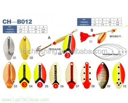 Chinese best quality fishing spinner blades baits