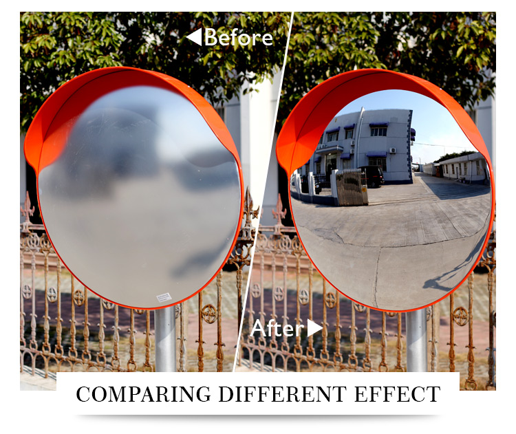 60cm curved mirrors for traffic use
