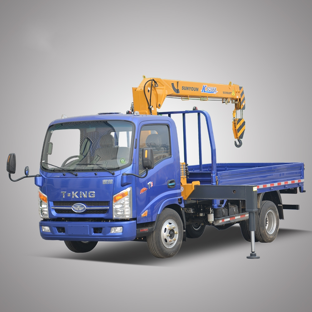 Telescopic Boom 3 Ton Mini Truck Crane Korea