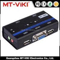 MT-VIKI stock computer accessories dual monitor twisted pair 2 port auto kvm switch