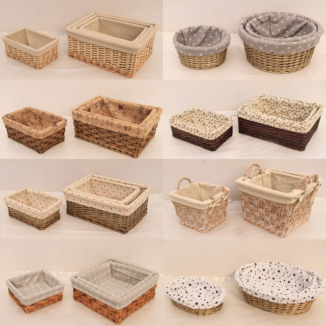 도매 위커 storage basket