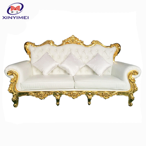 2017 Modern luxury velvet sofa with diamond for wedding