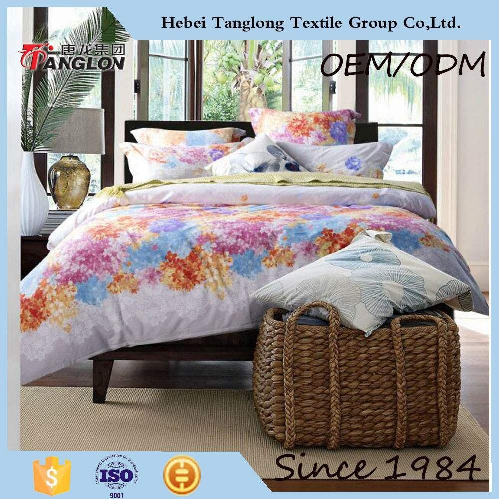 2015 alibaba china supplier 100% cotton bed sheet set wholesale comforter sets cotton bedding set