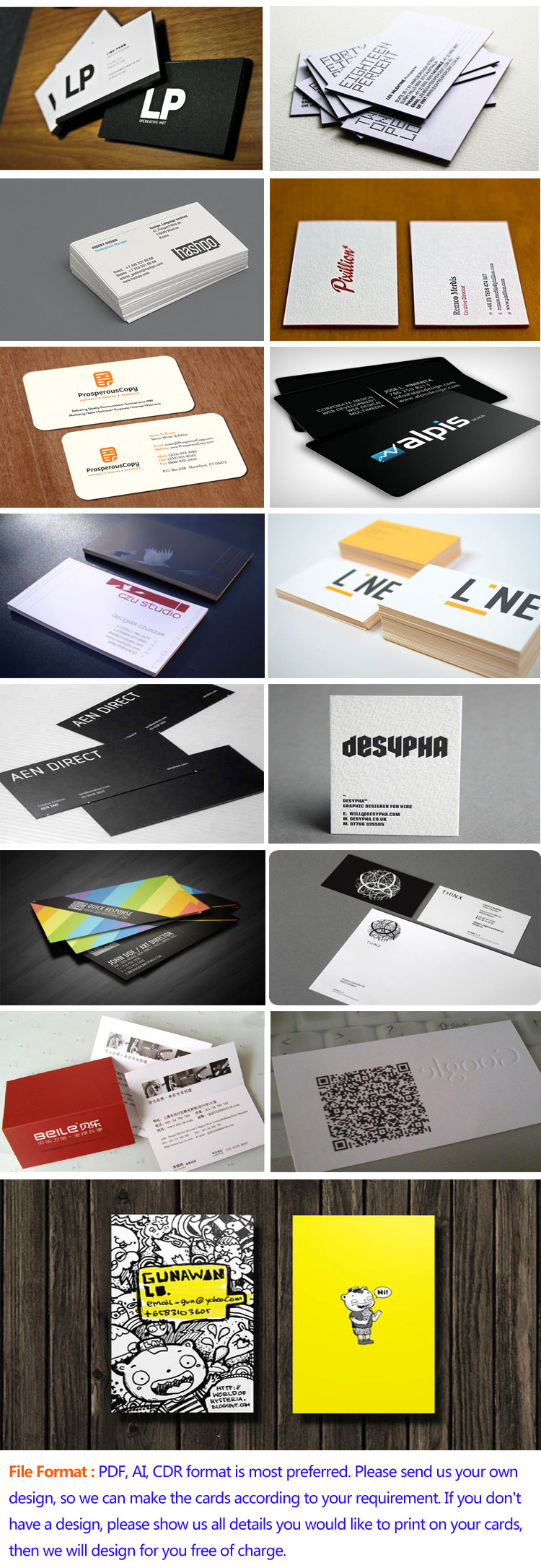 Custom Design Business Card Printing For Sale - Buy Business Card ...