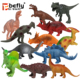 12pcs Educational gift assorted plastic dinosaur toy for kids collection
