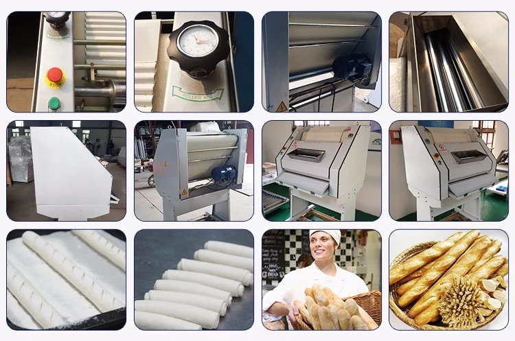 DBK Commercial Industrial Electric French Baguette Shape Making bakery Rolling Moulder Machine